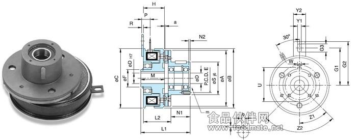 电磁离合器是一款以挂式安装方式的离合器