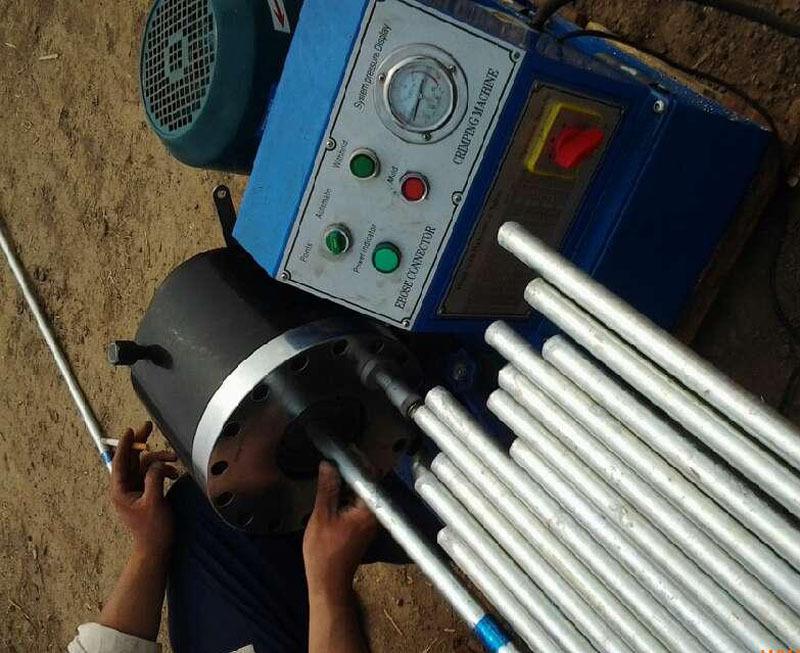 建筑钢管架子管压管机